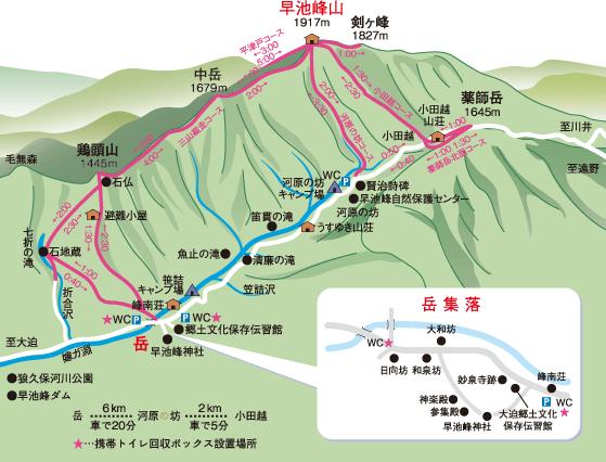 早池峰山詳細マップ