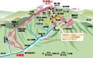 早池峰山全景マップ